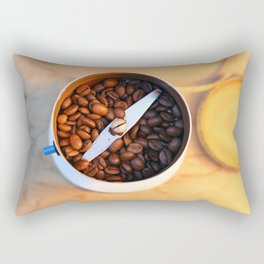 coffee beans in the coffee mill Rectangular Pillow
