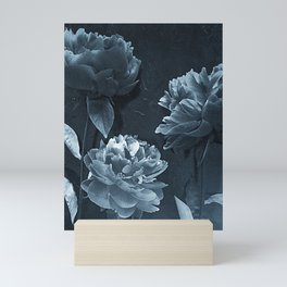 Blue Peonies Mini Art Print