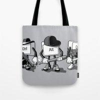 computer Tote Bags featuring Computer Mafia by MEKAZOO