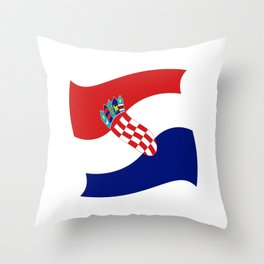 Flag of croatia 4 -croatian, Hrvatska,croat,croacia,Zagreb,split,rijeka,osijek. Throw Pillow