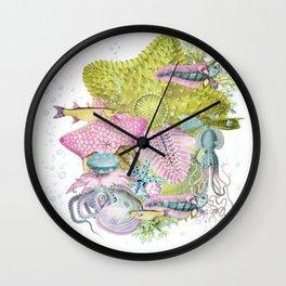In the Sea II Wall Clock
