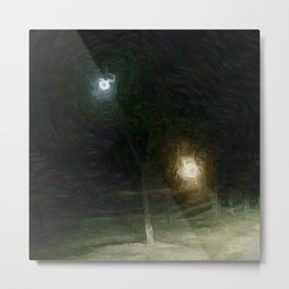 Good Night Farm Metal Print