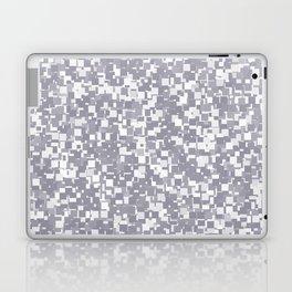 Lilac Gray Pixels Laptop & iPad Skin