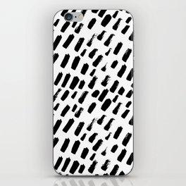 Dashing Darling - Black and White iPhone Skin
