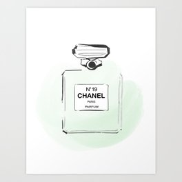 Green Perfume 3 Art Print