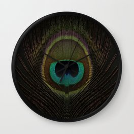 Peacock Feather Autumn Wall Clock