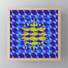 Blue Shark Sun Framed Mini Art Print