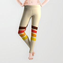 African Retro Stripes Leggings