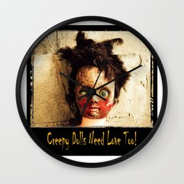 Creepy Doll Wall Clock