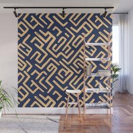 Maze pattern Wall Mural