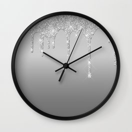 Beatiful Glitter Design Wall Clock