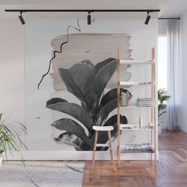 Fiddle Leaf Abstract - Naturelle #2 #minimal #wall #decor #art #society6 Wall Mural