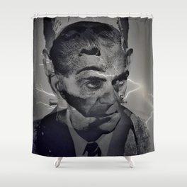 THE MONSTER WITHIN(Boris Karloff/Frankenstein) Shower Curtain