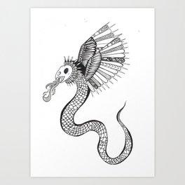 A Monster. Art Print