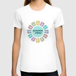 Summer vibes in flip flops T-shirt