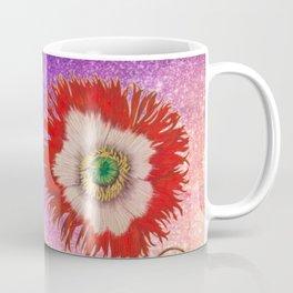 Vintage Botanical Collage - Poppies, Papaver Somniferum Coffee Mug