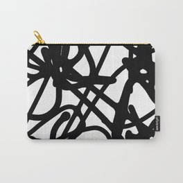 Meaningless - Black and white expressive painting Carry-All Pouch