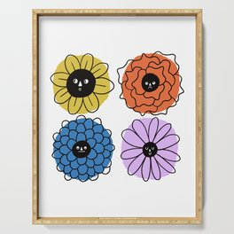 Flower Faces Serving Tray
