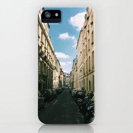 Spring in Paris - Le Marais Street Scene iPhone Case