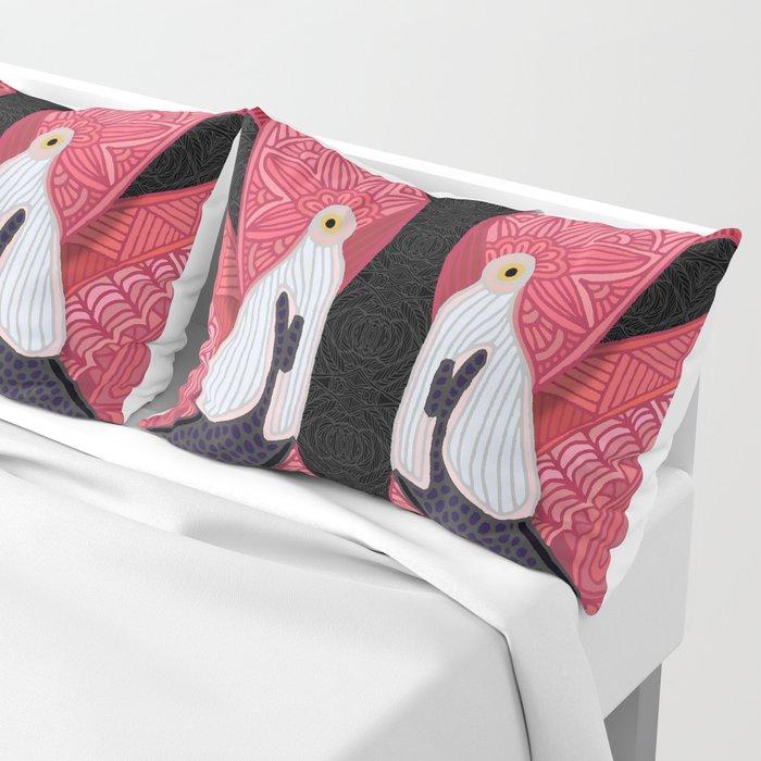 Pink Flamingos 2016 (black) Pillow Sham