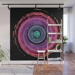 Rainbow Watercolor Spiral Wall Mural