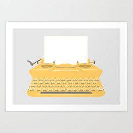 The Lonely Typewriter {mustard} Art Print