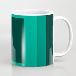 Dark Green Square Design 3 Coffee Mug