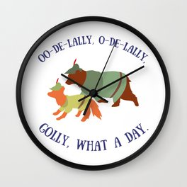 Robin Hood and Little John Wall Clock