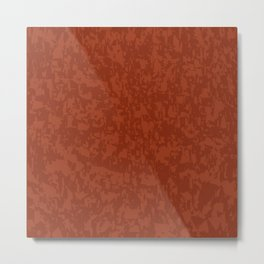Red Brick Efect Background Metal Print