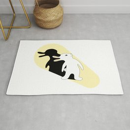 Rabbit Duck Shadow Puppet Rug