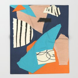 abstract collage Throw Blanket