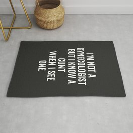 Know A Cunt Funny Quote Rug