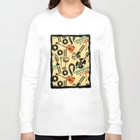 blankets Long Sleeve T-shirts featuring Jazz Rhythm (positive) by Chicca Besso