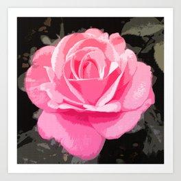 Dawning Rose Art Print