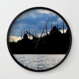 Sultanahmet Camii Skyline Istanbul Turkey Wall Clock