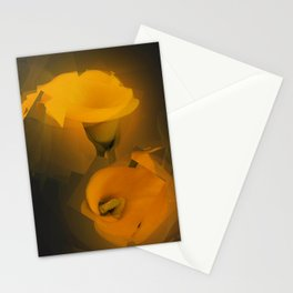 Calla Lily Warm Yellow Cubist Effect Stationery Cards