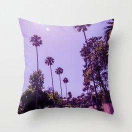 California Palm Trees Throw Pillow