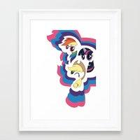 mlp Framed Art Prints featuring MLP by pixel.pwn | AK
