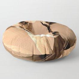 Beautiful and fast - Impala portrait Floor Pillow