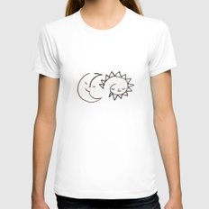 moom and snuh Womens Fitted Tee White MEDIUM