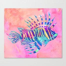 Electric Lionfish Canvas Print