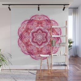 Pink Kaleidescope Wall Mural