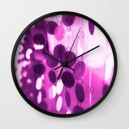 GLAM CIRCLES #Pink #1 Wall Clock