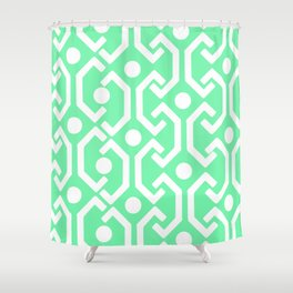 Ethnic Pattern (Mint) Shower Curtain