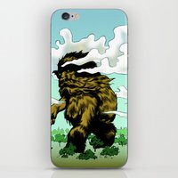iron giant iPhone & iPod Skins featuring GIANT by Aaron Rossell