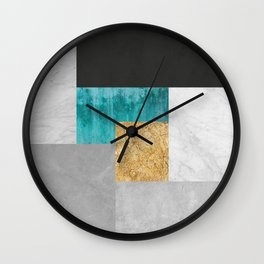 Geometric and minimalist marble VII Wall Clock