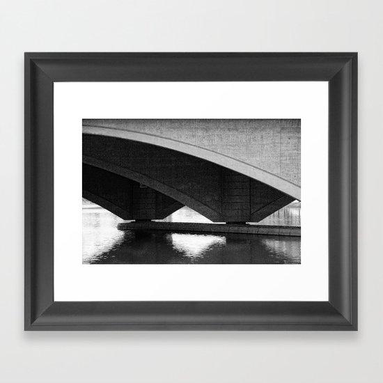 Arches on Broad street bridge Framed Art Print