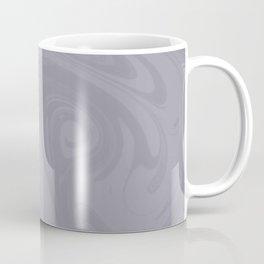 Pantone Lilac Gray Abstract Fluid Art Swirl Pattern Coffee Mug