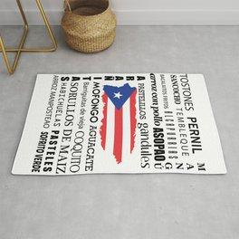 Puerto Rican foody & boricua  cousine  Rug