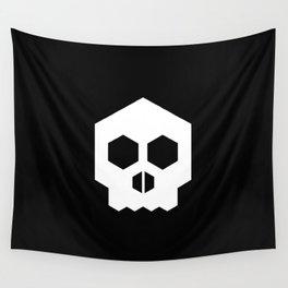 hex geometric halloween skull Wall Tapestry